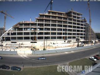 Строительство Национальной библиотеки Латвии