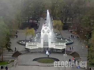 Веб-камера фонтана «Зеркальная струя»