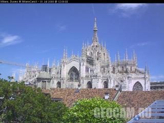 Duomo webcam, Milan