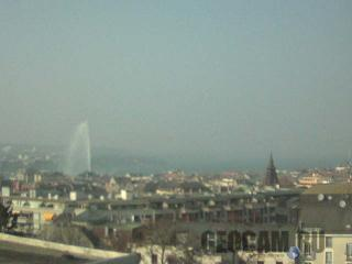 Lake Geneva and Jet d'eau webcam, Switzerland
