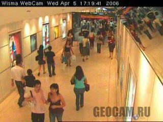 Веб-камера в торговом центре в Сингапуре