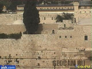 Live Western Wall Camera at Aish