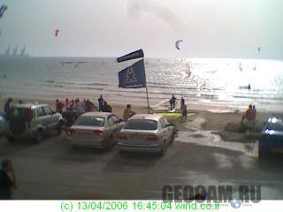 Веб-камера на пляже в городе Кейсария