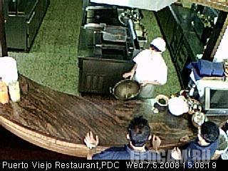 Веб-камера в ресторане Puerto Viejo