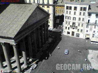Веб-камера на Площади Пантеона в Риме