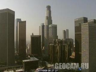 Веб-камера в деловом районе Лос-Анджелеса