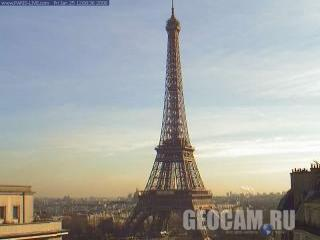 Веб-камера Парижа: Эйфелева башня