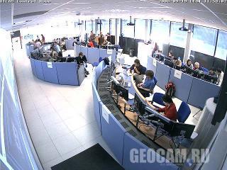 Веб-камера в центре управления детектором ATLAS