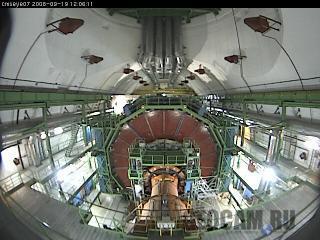 Веб-камера в подземной экспериментальной шахте Большого адронного коллайдера