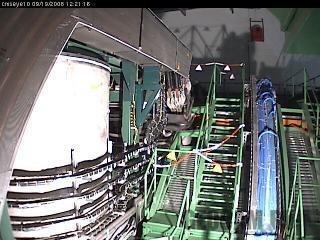Веб-камера детектора CMS: сторона «минус»