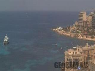 Веб-камера залива Баллута на Мальте