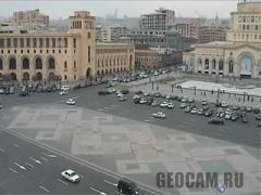 Веб-камера на площади Республики (Армения)