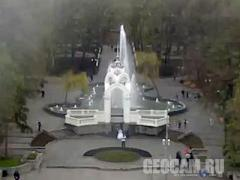 """Mirror stream"" fountain webcam (Kharkiv, Ukraine)"