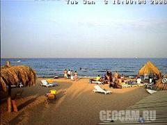 Red Sea beach webcam, Hurghada