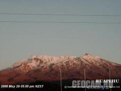 Ruapehu volcano webcam (New Zealand)