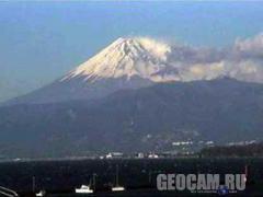 Веб-камера показывает гору Фудзи