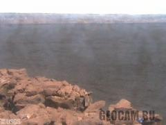 Live panorama of the summit caldera of Mauna Loa Volcano