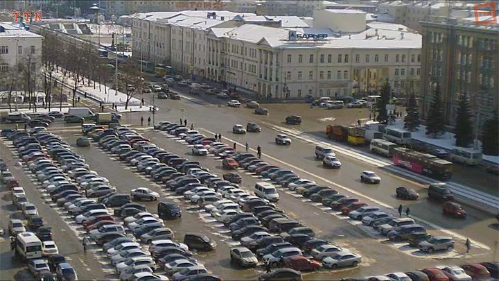 Веб-камера на Площади 1905 года, HD
