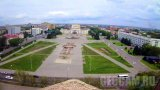 Webcam of the central square (Abay) of the city of Semey, Kazakhstan