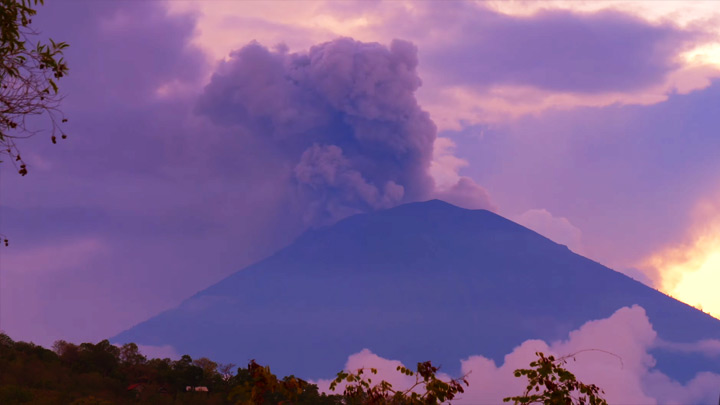 Mount Agung Volcano Webcam, Bali, Indonesia
