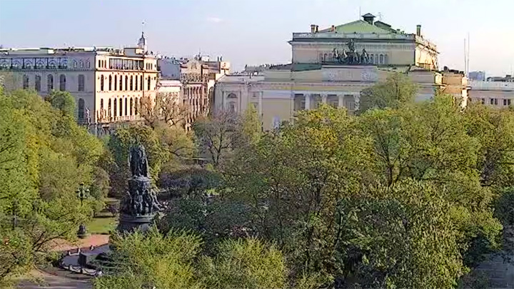 Webcam with a view of the Alexandrinsky Theater, Saint Petersburg