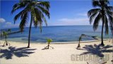 Webcam on Ambergris Cay island beach, Belize