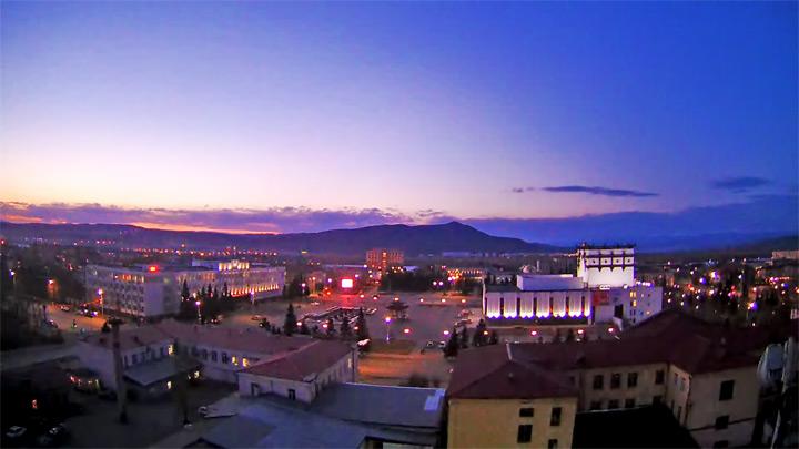 Онлайн вид на площадь Арата в Кызыле