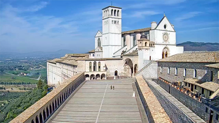 Webcam of the Basilica of St. Francis in Assisi, Italy