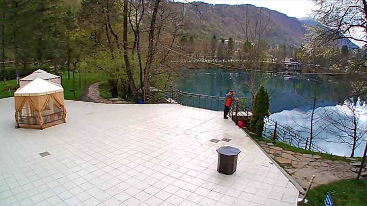 Веб-камера у Голубого озера