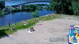 Webcam on the water ski base beach, Chernigov