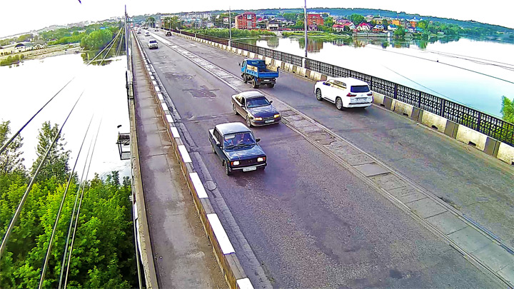 Webcam on the Communal Bridge, Biysk