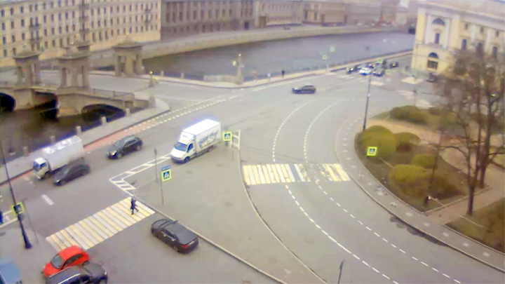 Webcam on the Fontanka River Embankment, Saint Petersburg