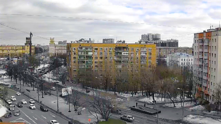 Webcam overlooking the Gagarin Square in Moscow
