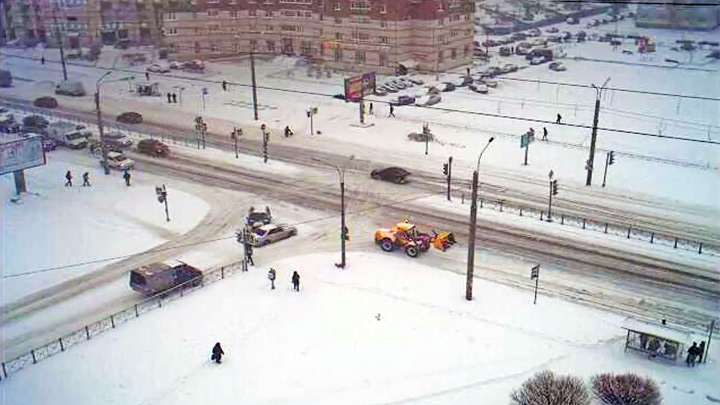 Online webcam on the crossroad of Gakkelevskaya and Kamyshovaya streets in St. Petersburg: Online webcam on the streets and crossroads Gakkelevskaya reed in St. Petersburg