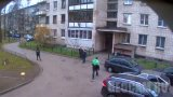 Webcam on the corner of the house number 12 on Glory Avenue in Saint Petersburg