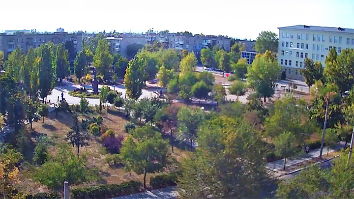 Webcam in Gogol Park, Severodonetsk city