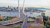 Webcam overlooking the Golden Bridge in Vladivostok