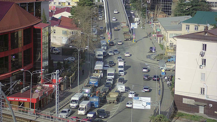 Webcam on the crossroads of Gagarin Street and Freight Yard