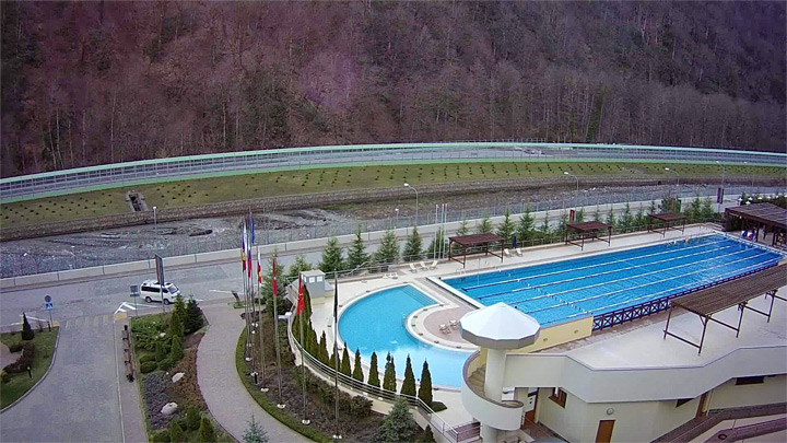 View of the outdoor pool of GTZ «Gazprom»
