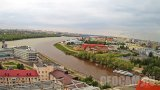 Webcam overlooking the Irtysh and Om rivers, Omsk city, Russia (Omsk, Russia)