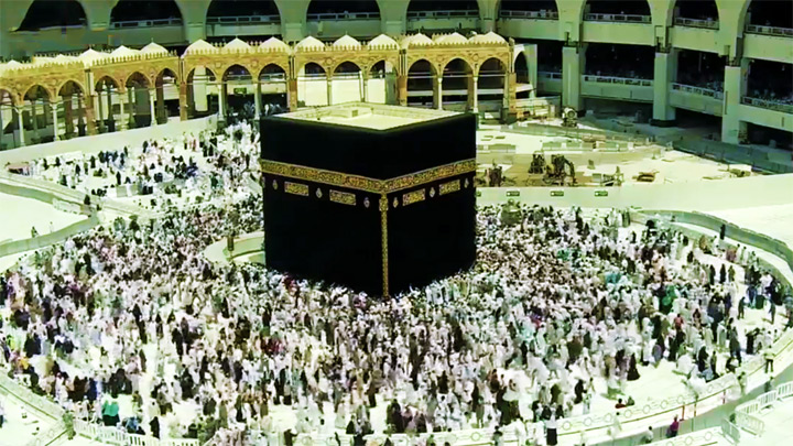 Webcam in the center of the Masjid al-Haram Mosque, Mecca