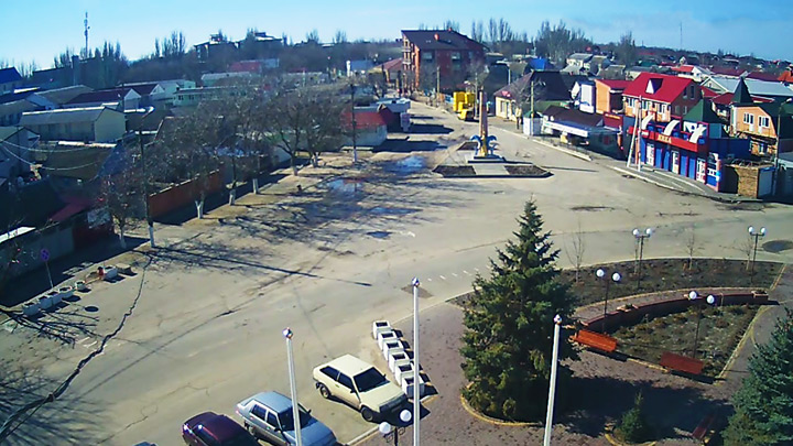 Webcam in the center of the resort village Kirillovka