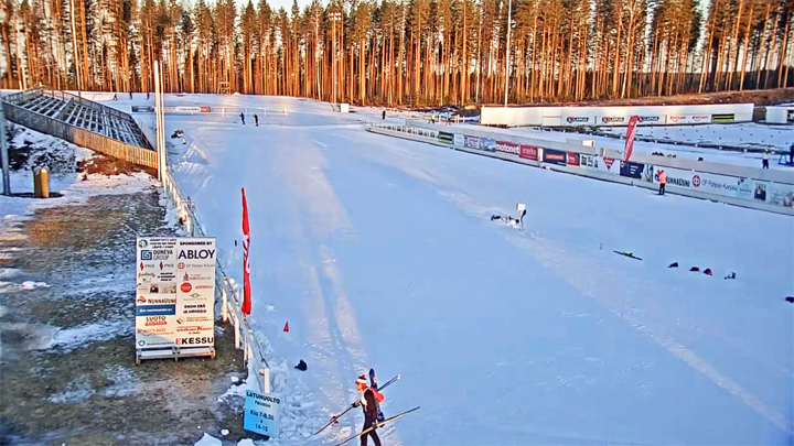 Webcam at the ski stadium in Kontiolahti, Finland