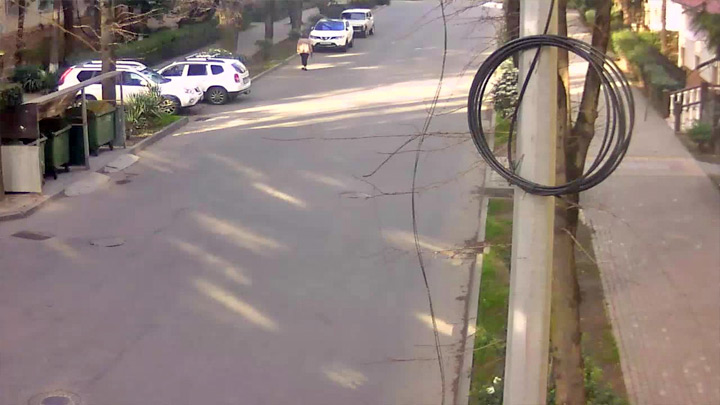 Webcam on Red Army Street towards Gagarin street