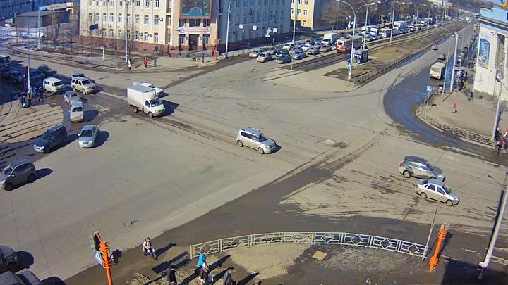 Перекрёсток пр. Кузнецкий - пр. Советский