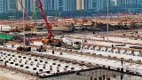 Webcam of the construction of the Leishanshan Hospital, Wuhan, China