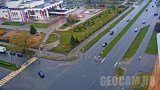 Webcam at the intersection of Lomonosov and Popov streets, Veliky Novgorod