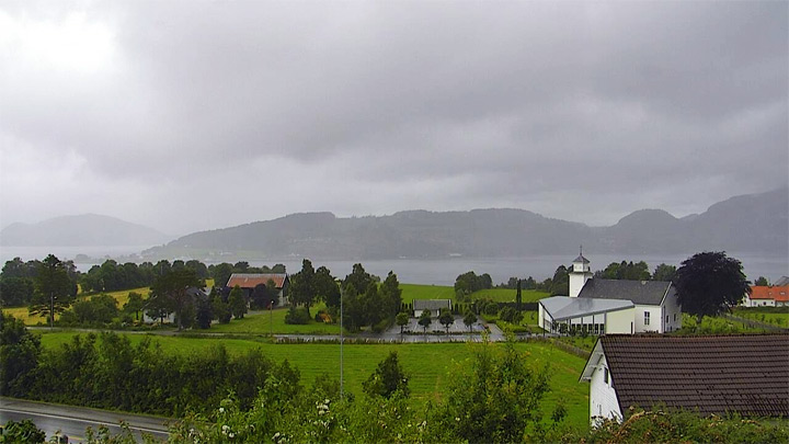 Lysefjord webcam: Lysefjord and Forsand Church