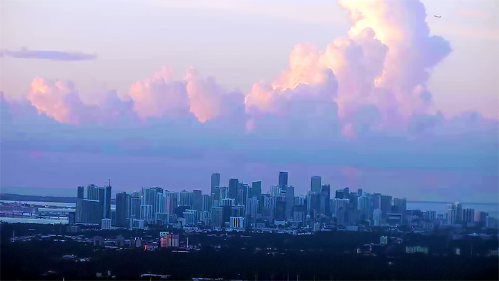 Live panorama of Miami