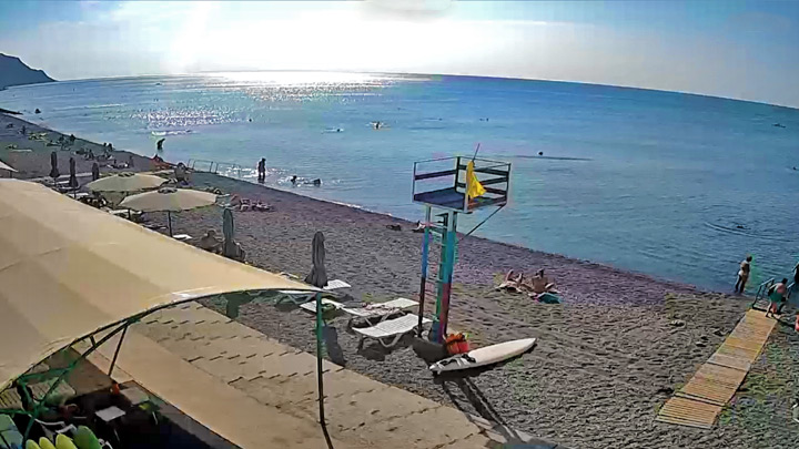 Morskoe beach webcam: The webcam on the beach of the village Morskoe